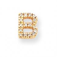 14k Diamond Initial B Charm