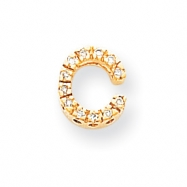 14k Diamond Initial C Charm