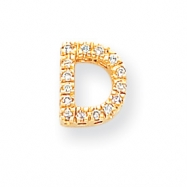 14k Diamond Initial D Charm