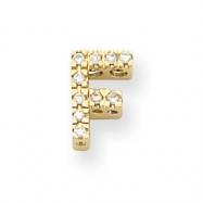 14k Diamond Initial F Charm
