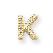 14k Diamond Initial K Charm