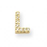 14k Diamond Initial L Charm