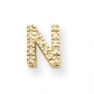 14k Diamond Initial N