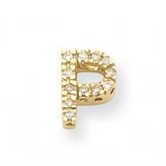 14k Diamond Initial P