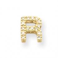 14k Diamond Initial R