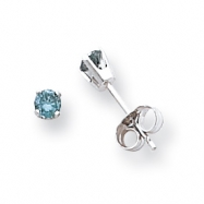 14k White Gold BD Diamond stud earring
