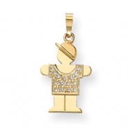 14k A Diamond kid pendant