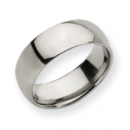 Titanium 8mm Polished Comfort Fit Wedding Band ring