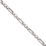14k White Gold Holds 18 1.7mm & 9 2.4mm Stones .92ct Fancy Tennis Bracelet