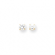 14k 5.25mm CZ Post Earrings