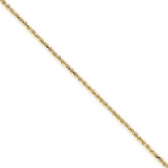 14k 1.2mm Solid D/C Machine-Made with Lobster Rope Chain anklet