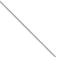 14k White Gold 1.4mm Solid D/C Spiga Chain