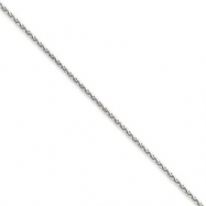 14k White Gold 1.4mm Solid D/C Spiga Chain
