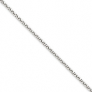 14k White Gold 1.8mm Solid D/C Spiga Chain