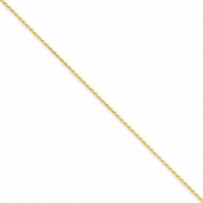 14k 1mm Solid D/C Spiga Chain