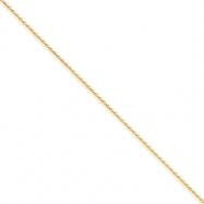 14k 1mm Solid D/C Spiga Chain