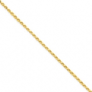 14k 1.8mm Solid D/C Spiga Chain