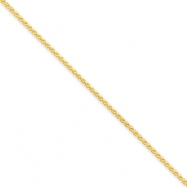 14k 1.65mm Solid Polished Spiga Chain