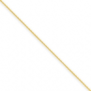 14k .6mm Solid Polished Cable Chain