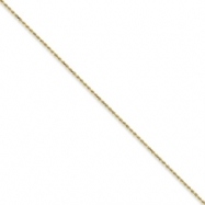 10k 2mm Machine Made Diamond Cut Rope Chain