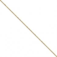 10k 2mm Machine Made Diamond Cut Rope Chain