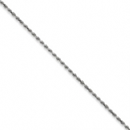 10k White Gold 2.25mm Machine Made Rope Chain