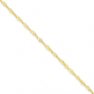 10k 1.70mm Singapore Chain anklet