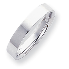 Platinum 4mm Flat Size 5 Wedding Band ring