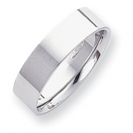 Platinum 6mm Flat Size 6 Wedding Band ring