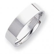 Platinum 6mm Flat Size 6 Wedding Band ring