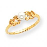 14k 4mm Pearl Ring