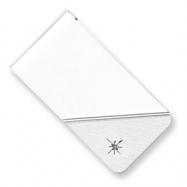 Silver-plated & Rhodium Star .001ct. Diamond Money Clip