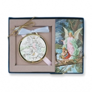 Sterling Silver Raphael Angel Medallion & Prayer Card
