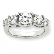 14k White Gold AA Diamond anniversary band