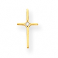 14k .01ct Diamond Cross Necklace chain