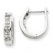14k White Gold Diamond Hinged Earrings