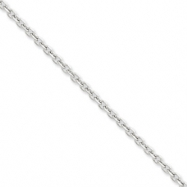 14k White Gold 3mm D/C Cable Chain