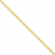 14k 3mm D/C Cable Chain