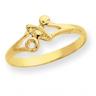 14k Pacifier Baby Ring
