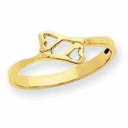 14k Double Heart Baby Ring