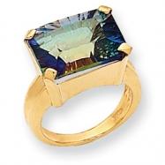 10k Mystic Purple Topaz Ring