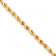 18in Gold-plated 3mm Diamond Cut French Rope Chain