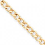 18in Gold-plated 5.5mm Curb Chain