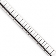 16in Rhodium-plated 6mm Omega Necklace chain