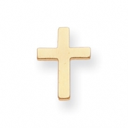 Gold-plated Small Plain Cross Tie Tack