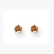 14K 3mm Colorado Topaz Crystal Earrings