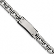 Stainless Steel Black Rubber ID Bracelet anklet