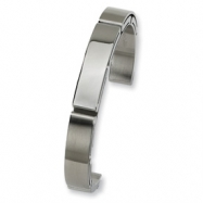 Stainless Steel Brushed and Polished Cuff Bangle