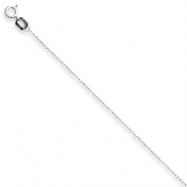 10k White Gold Carded Cable Rope Chain