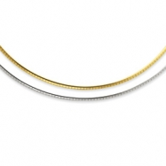 Sterling Silver & 14k 2mm Reversible Adjustable Omega chain